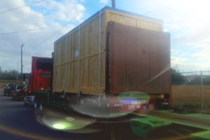 truck moving cargo